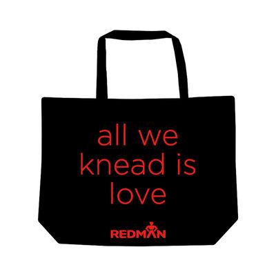 REDMAN TOTE BAG ALL WE KNEAD IS LOVE