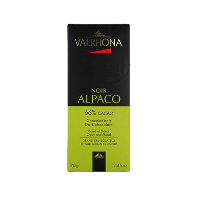 VALRHONA ALPACO 66% EQUATEUR DARK CHOCOLATE 70G