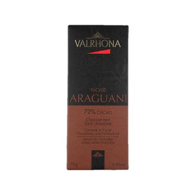 VALRHONA ARAGUANI 72% DARK CHOCOLATE BAR 70G