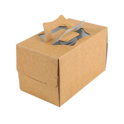 """REDMAN KRAFT LOG CAKE BOX TOP WINDOW & HANDLE 10X6X6"""""""