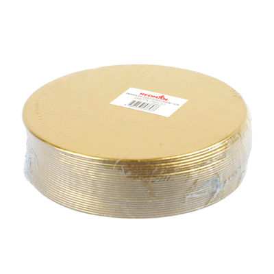 REDMAN PAPER PLATE ROUND GOLD 10CM 25PC