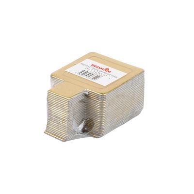 REDMAN PAPER PLATE SQUARE GOLD 4X4CM 25PC