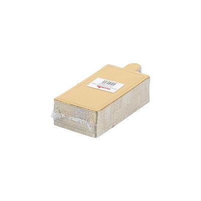 REDMAN PAPER PLATE RECT GOLD 8.9X5CM 25PC