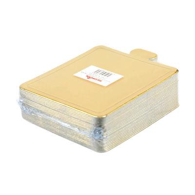 REDMAN PAPER PLATE RECT GOLD 9X7.6CM 25PC