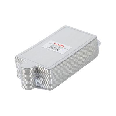REDMAN PAPER PLATE RECT SILVER 10.4X5.1CM 25PC