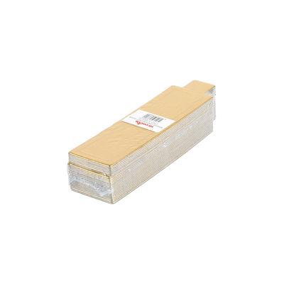 REDMAN PAPER PLATE RECT GOLD 3.4X12CM 25PC