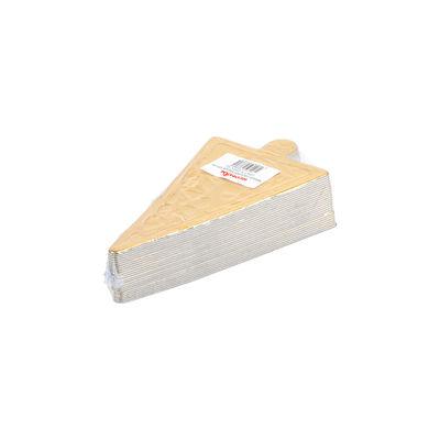 REDMAN PAPER PLATE TRIANGLE GOLD 6.4X11.3CM 25PC