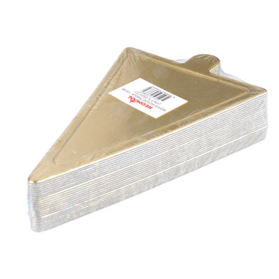 REDMAN PAPER PLATE TRIANGLE GOLD 11.8X7.8CM 25PC