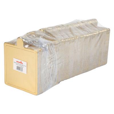 REDMAN PAPER PLATE SQUARE GOLD 7.5X7.5CM 200PC
