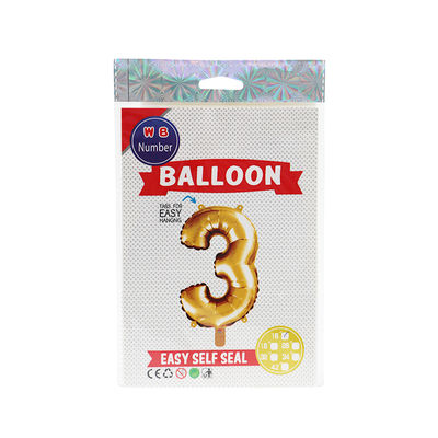 """BALLOON NUMBER 3 GOLD 16"""""""
