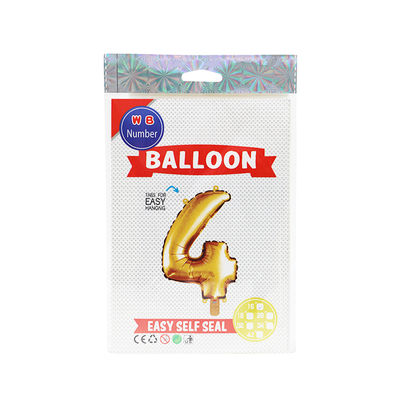 """BALLOON NUMBER 4 GOLD 16"""""""