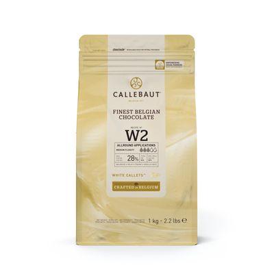 CALLEBAUT WHITE CHOCOLATE COUVERTURE 28% 1KG