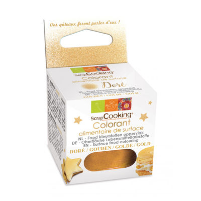 SCRAPCOOKING ARTIFICIAL SURFACE GOLD COL POWDER 5G