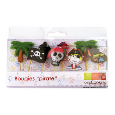 PIRATES CANDLE 8PC