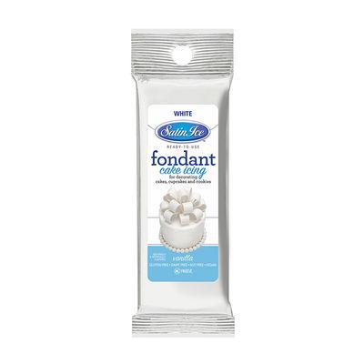 SATIN ICE WHITE ROLLED FONDANT 4.4OZ
