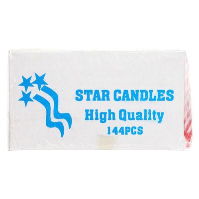 "REDMAN BIRTHDAY CANDLE STRIPES 3.5"" ASST 144PC"