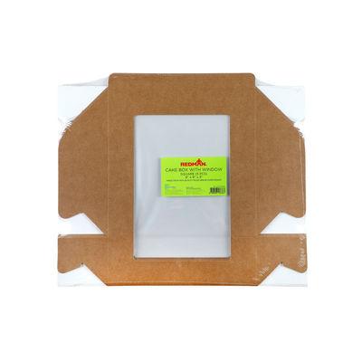"REDMAN KRAFT CAKE BOX WINDOW 9X9X3"" 5PC"