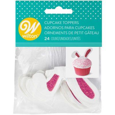 WILTON BUNNY EAR CUPCAKE TOPPER 2113-9356 24PC