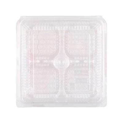 SQ PLASTIC CLAM BOX 4-SQ-CAV 180X180X30MM