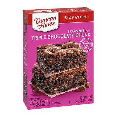 DUNCAN HINES TRIP CHOCOLATE BROWNIE MIX 510G