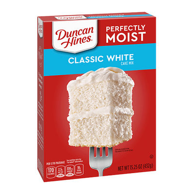 DUNCAN HINES CLASSIC WHITE CAKE MIX 432G