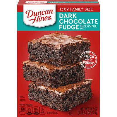 DUNCAN HINES DARK CHOCOLATE FUDGE BROWNIE MIX 516G