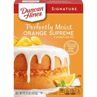 DUNCAN HINES SIGNATURE ORANGE SUPREME CAKE MIX 432G