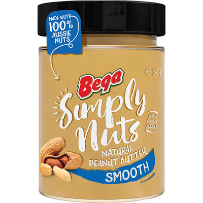SIMPLY NUTS NATURAL PEANUT BUTTER SMOOTH 325G
