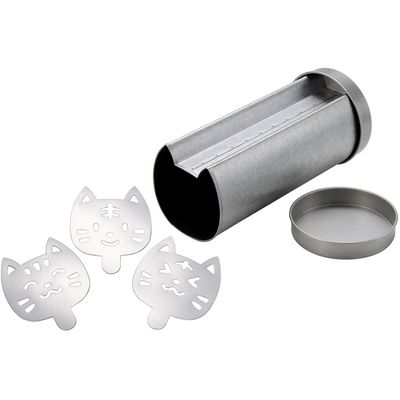 CAKE LAND BREAD PAN WITH STENCIL CAT 91X221X85MM