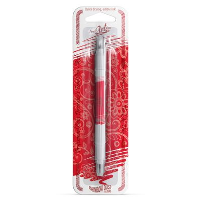 RAINBOW DUST EDIBLE PEN COLOR DOUBLE SIDED-RED