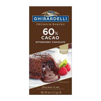 GHIRARDELLI CACAO BAKING BAR BITTERSWEET 60% 113.5G