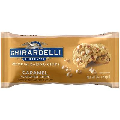 GHIRARDELLI CARAMEL FLAVOURED BAKING CHIPS 283G