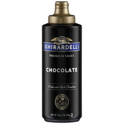 GHIRARDELLI CHOCOLATE SAUCE BLACK LABEL SQUEEZE BOTTLE 454G