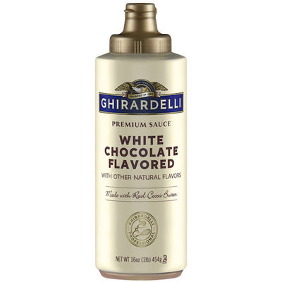 GHIRARDELLI CHOCOLATE WHITE SAUCE SQUEEZE BOTTLE 454G