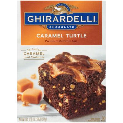 GHIRARDELLI CHOCOLATE CARAMEL TURTLE BROWNIE MIX 524G