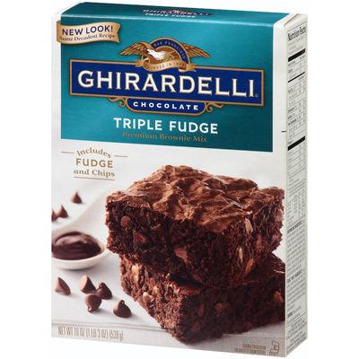GHIRARDELLI TRIPLE CHOCOLATE FUDGE BROWNIE MIX 524G