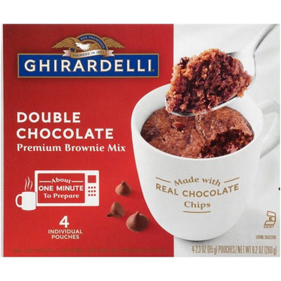 GHIRARDELLI MUG DOUBLE CHOCOLATE BROWNIE MIX 260G
