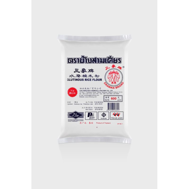 GLUTINOUS RICE FLOUR (UNCOOKED) 600G image number 0