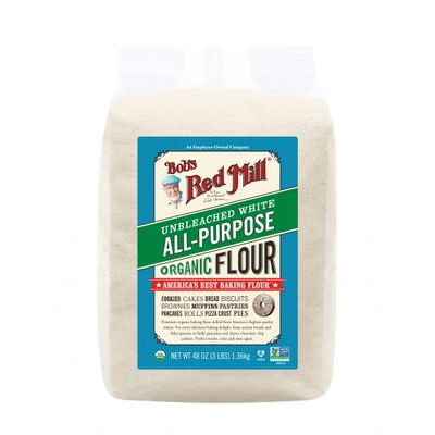 BOB'S RED MILL ORGANIC UNBLEACHED ALL PURPOSE WHITE FLOUR 3LBS