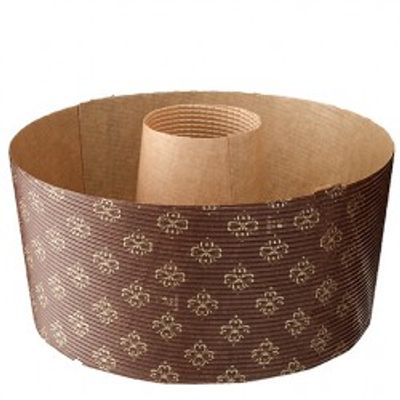 TOMIZ CHIFFON PAPER MOULD WITH LID(BROWN) 5PC