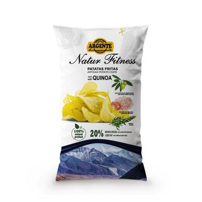 ARGENTE QUINOA CHIPS WITH EVOO & HIMALAYAN SALT 150G