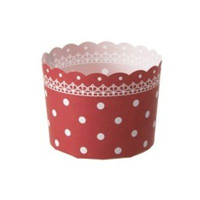 TOMIZ MUFFIN CUP (DOTTED RED) 10PC