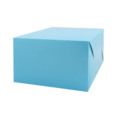 "REDMAN CAKE BOX PASTEL BLUE 8X8X5"" 5PCS"