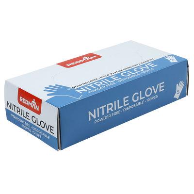 REDMAN GLOVES NITRILE (POWDER FREE) S 100PC