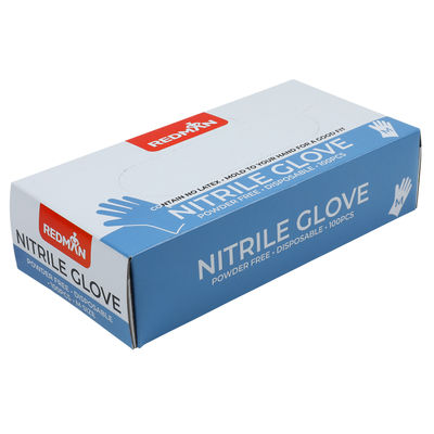 REDMAN GLOVES NITRILE (POWDER FREE) M 100PC