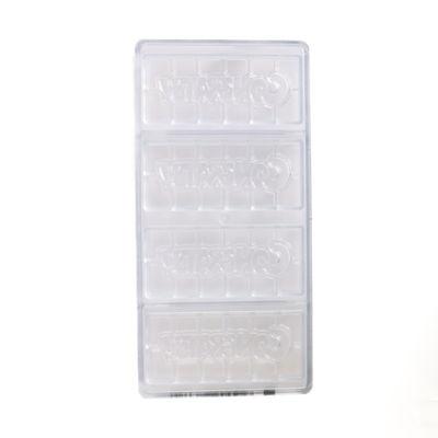 "CHOCOLATE WORLD ""CONGRATS"" CHOC TABLET MOULD 4CAV CW12011"