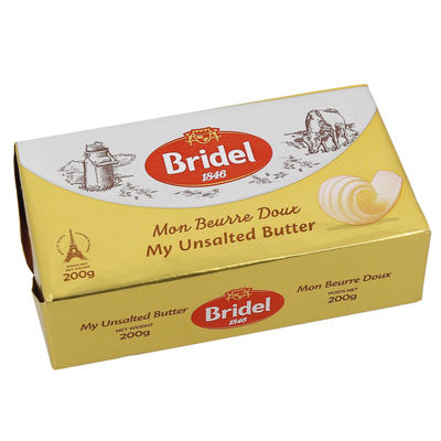 BRIDEL UNSALTED BUTTER 200G