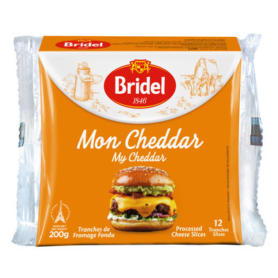 CHEDDAR CHEESE PROCESSED SLICE (12PC) 200G