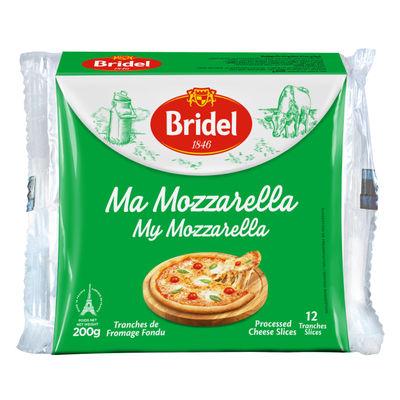 BRIDEL MOZZARELLA CHEESE PROCESSED SLICE (12PC) 200G