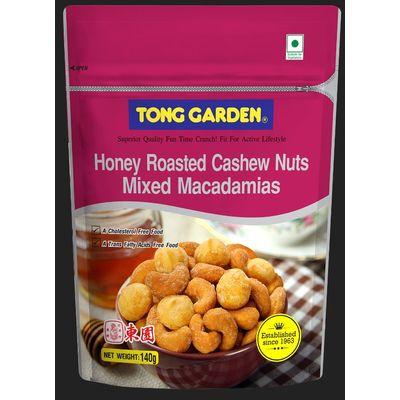 TONG GARDEN NUT HONEY ROASTED CASHEW MIXED MACADAMIA 140G